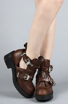 Jeffrey Campbell Coltrane Cut Out... My 20 year old grunge college girl inside LOVES these. The thirty-x year old woman wants to be 20 again so she can wear them.
