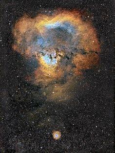 Question mark of the cosmos. Kefaus nebula photographed by Jukka-Pekka Metsävainio.