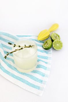 Thyme & Elderflower Gimlet / a play on the classic French Gimlet, perfect for spring!
