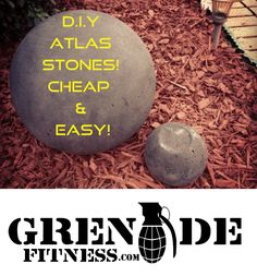 DIY Atlas Stones Cheap and Easy!    Learn how I made my atlas stone and how simple and easy it is to do your own!