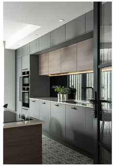 Modern Kitchen Interiors, Luxury Kitchen Design, Kitchen Room Design, Modern Kitchen Cabinets, Kitchen Cabinet Design, Home Decor Kitchen, Interior Design Kitchen, Contemporary Kitchens, Kitchen Ideas