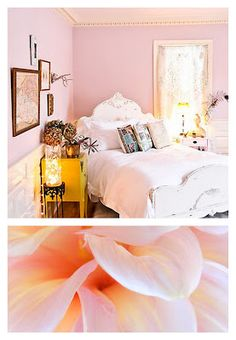 pale pink and yellow bedroom - little girl