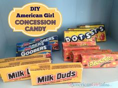 American Girl Concession Candy