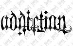 Addiction / Temptation  Ambigram By Mark Palmer