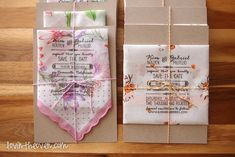 Lovin' From The Oven:DIY handkerchief save the dates