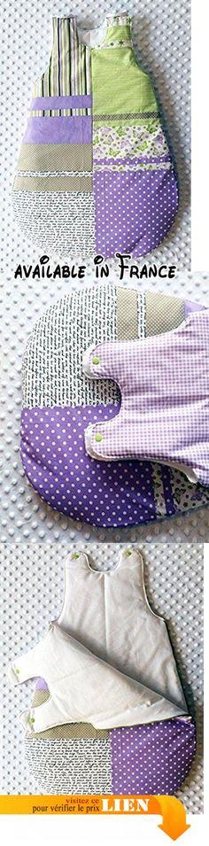 Turbulette / Gigoteuse automne hiver fille bébé 0-6 mois - Violet lilas vert beige blanc.  #Guild Product #GUILD_BABY