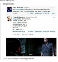 I swear, it's like they're trying to communicate.<<< pinning for that comment<<< my favorite part is that like ALL other fandoms back up he and the supernatural fandom! Castiel, Supernatural Fandom, My Tumblr, Tumblr Funny, We Are Bears, Fangirl, Cw Series, Bubbline, Fandoms