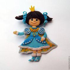 Изготовление детской броши «Принцесса» из полимерной глины - Ярмарка Мастеров - ручная работа, handmade