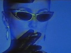 vhs+the unholy magnetic union: Photo Vaporwave, Blue Aesthetic Dark, Fille Gangsta, Foto Fantasy, Photocollage, Photo Wall Collage, Retro Futurism, Blue Walls, Aesthetic Pictures