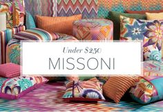 Decades after defining mid-century Italian fashion, Missoni began to explore the world of home décor, applying their unmistakable patterns and hues to everyday textiles. Spoiler alert: They succeeded. Start your collection with smaller accents that make a big statement. Luxury that you can live with? Yes please.https://www.allmodern.com/deals-and-design-ideas/Missoni-Home-Under-%24250~E21601.html?refid=SBP.rBAZEVUE0NaYIBV9d2B_AldM4sIdCkCIp1uwOCNlPxk