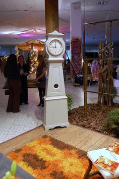 Debby Hall's space @ the next cool event featuring Bjork Antikt & Studio's rya rug & clock