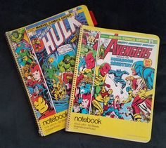 1970's Marvel spiral notenooks