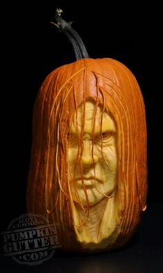 Awesome pumpkin carving. The guy that does these is so talented!