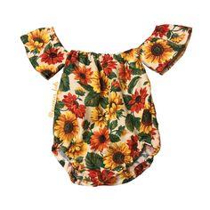 Baby Romper Boho Baby Romper Off the Shoulder Baby Romper Girls Boho Romper Floral Baby Outfit Toddler Romper Baby Outfits, Toddler Outfits, Kids Outfits, Baby Girl Romper, My Baby Girl, Baby Dress, Baby Rompers, Baby Girls, Toddler Rompers