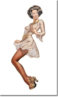 Patrick Hitte - Pin-up art. vintage 60's I love the dress and the hair style