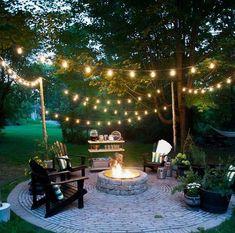77 Backyard Fire Pit Design Ideas - Home/Decor/Diy/Design Cheap Fire Pit, Diy Fire Pit, Fire Pit Backyard, Landscape Design, Garden Design, Fence Design, Le Hangar, Fire Pit Area, Fire Pit Designs