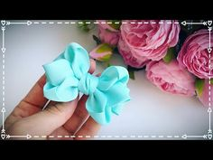 The bow of REP ribbons cm Alena Khoroshilova Ribbon Hair Bows, Diy Hair Bows, Diy Ribbon, Bow Template, How To Make Ribbon, Hair Beads, Felt Flowers, Xmas Decorations, Diy Hairstyles