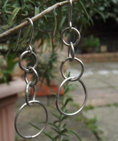 Silver filled earrings handcrafted, solid, strong,gift ideas, shine by FlordaVida on Etsy