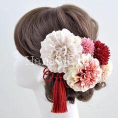 HanaMaryは自由にお花の髪飾りをセットでアレンジできちゃうショップサイト Circus Wedding, Hair Arrange, Japanese Hairstyle, Hair Ornaments, Bride Hairstyles, Wedding Images, Hair Comb, Traditional Dresses, Hair Pieces