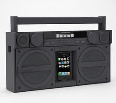 Totally an android gal, but my old iphone has a bunch of my music on it, and this would be rad. Portable FM Stereo Boombox