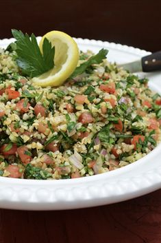 Tabbouleh is chock full of fresh, in-season summer ingredients such as tomatoes, cucumbers and fragrant herbs. It's not only healthy and packed with that bright citrusy flavor you crave this time of year, tabbouleh is a cinch to make. Be sure to let the composed salad rest for a couple hours before serving, allowing all of the flavors to meld together. Serve on its own, with grilled chicken and veggies, or try stuffing it in a pita with hummus and feta.