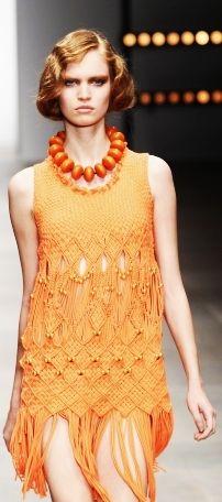 Mark Fast, 2012  knitwear. One of my favourite knitwear designers