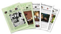 """Ideazione e impaginazione del tabloid per le agenzie """"Aria Adv"""" e """"Toccafondi""""."""