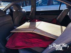Build a Bed for Your Honda Civic Camper Conversion - Road Trip Soul Toyota Camry, Toyota Corolla, Toyota Supra, Civic Jdm, Honda Civic Si, Living In Car, Van Living, Minivan Camping, Built In Bed