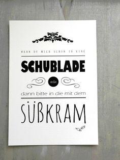 "Druck, Kunstdruck ""Süßkram"" // typo print via DaWanda.com"