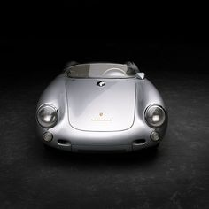 Ralph Lauren's 1955 Porsche 550 Spyder, aluminum bodied and the same model (#61 of the 90 that were made) that James Dean died in. It's 110 hp in a car that weighs less than a modern day F1 car.: