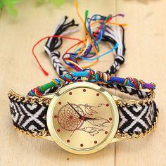 Dreamcatcher Quartz Watch with Native Handmade Knitted Band