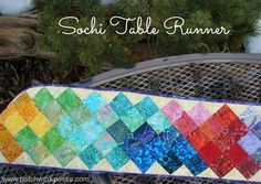 Table Runner Tutorial- Sochi Olymipcs Inspired | patchwork posse #olympics #tablerunner #patchwork