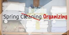 Getting organized this spring can help make spring cleaning easier and quicker. Spring Cleaning Organization, Closet Organization, Organizing, Inside Job, Best Foundation, Staying Organized, Hygge, Storage Spaces, Cleaning Supplies
