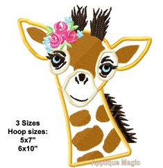 Giraffe Applique Design Embroidery Pattern in 3 sizes hoops 5x7 6x10 INSTANT DOWNLOAD by AppliqueMagic on Etsy Machine Applique Designs, Machine Embroidery Applique, Different Types Of Fabric, W 6, Baby Items, Giraffe, Pattern Design, Handmade Items, Etsy