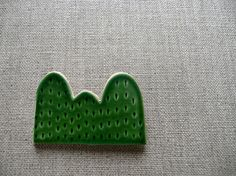 Green Yama Mountain Brooch. http://www.esty.com/shop/andODesign