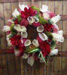 Everyday Mesh Wreath on Etsy, $85.00
