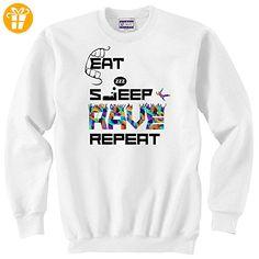 Eat sleep rave repeat party dance Unisex Sweater XX-Large (*Partner-Link)