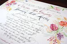 marriage certificate calligraphy - handmadespark.com