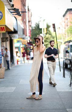 dress over pants #streetstyle