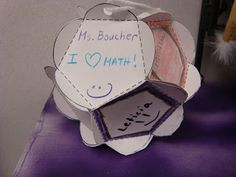 """Math Coach's Corner: End of the Year MATH Fun. A dodecahedron is a 12-sided geometric ball (or """"geo ball"""", as my friend Laurie calls it).  Copy two sheets of the pattern for each student on white cardstock.  Ordinary paper is too flimsy.  Kiddos decorate all of the pentagons before cutting them out.  You can give them a theme, or just have them draw or write special memories of the year."""