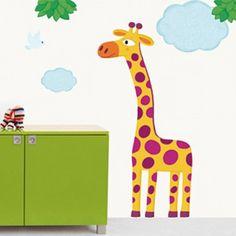 Grote giraf sticker