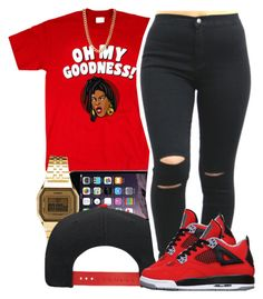 """""""sheneneh"""" by yeauxbriana ❤ liked on Polyvore featuring Casio"""
