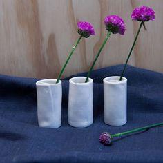 Tiny folded vases, set of 3 gift boxed. Tasmania, Wander, Vases, Planter Pots, Artisan, Ceramics, Handmade, Gifts, Ceramica