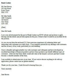 10 Best cover letter examples images in 2012 | Cover letter example ...