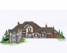 Eplans French Country House Plan - European Traditional Tow Story Full Basement - 3549 Square Feet and 3 Bedrooms(s) from Eplans - House Plan Code HWEPL75121