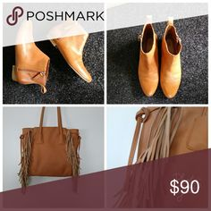BUNDLE BOOTS AND BAG🍁🍁🍁🍁🍁 Bag and shoes. Boots 40.00 bag 30.00boots are leather GAP Bags Hobos
