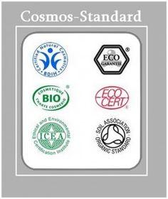 La marca Natura Sibérica es la tercera compañía en el mundo miembro de COSMOS-Standard AISBL, asociación dedicada a la certificación de los cosméticos fundada en el 2010 por Soil Association (Gran Bretaña), Cosmebio & ECOCERT (Francia), BDIH (Alemania) e ICEA (Italia), www.cosmos-standard.org