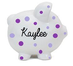 Disney fund personalized piggy bank ceramic piggy bank polkadot personalized piggy bank boy piggy banks personalized ceramic piggy huckletts creations negle Choice Image