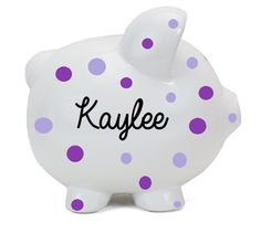 Personalized Piggy Bank - Boy Piggy Banks Personalized - Ceramic Piggy – Hucklett's Creations