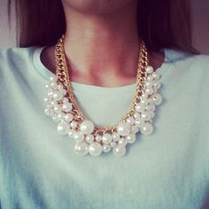 Pearl Statement Necklace.